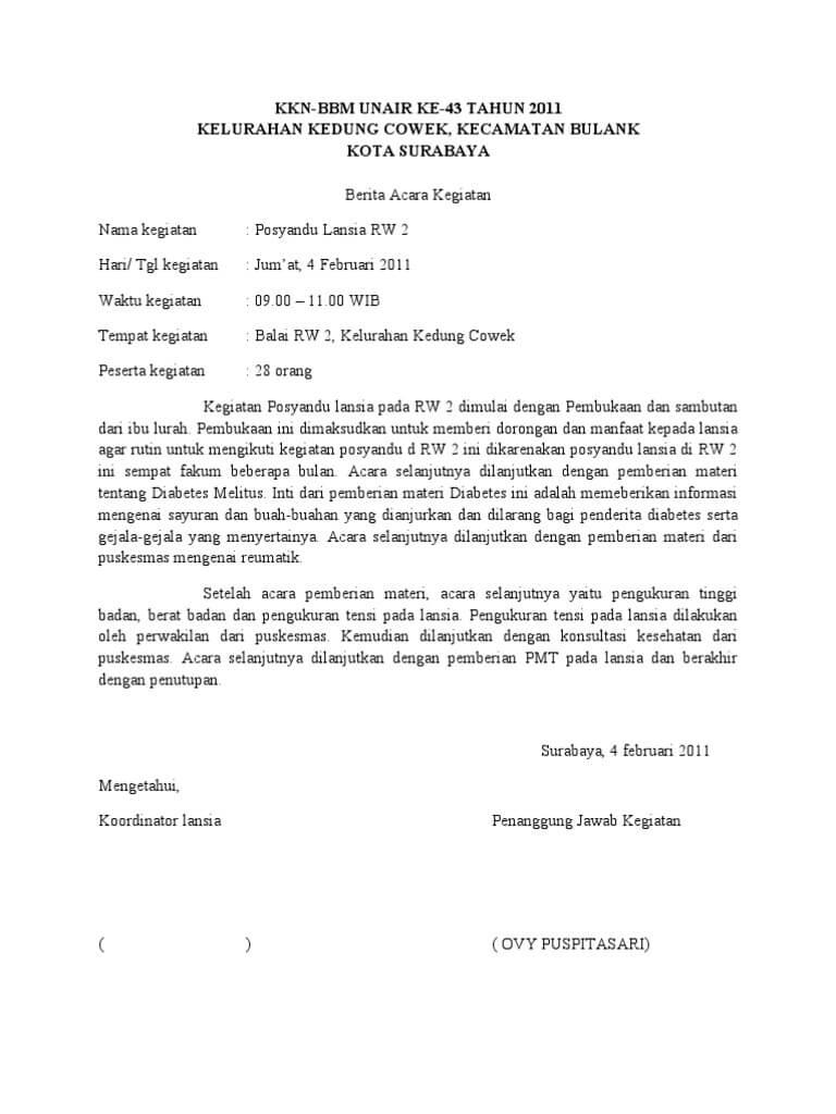 Contoh Surat Berita Acara Untuk Berbagai Keperluan
