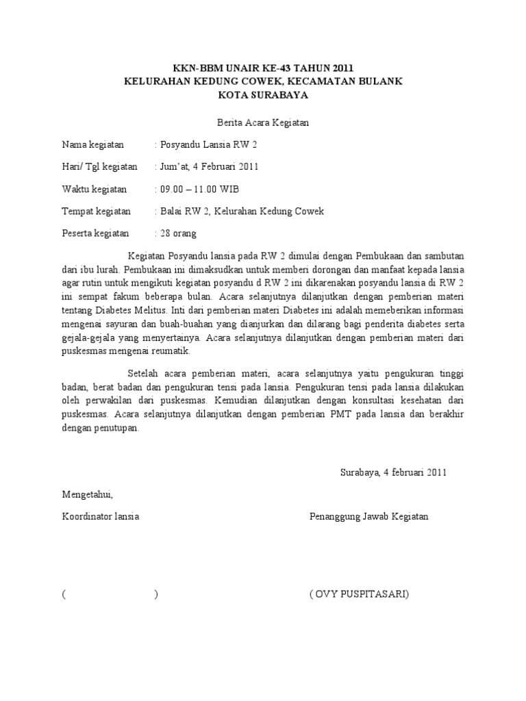 Contoh Surat Berita Acara untuk Berbagai Keperluan  Assalam Print