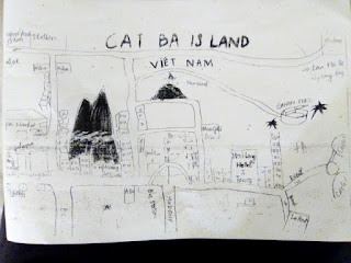 Mapa Cat Ba Ha Long Hotel Vietnam