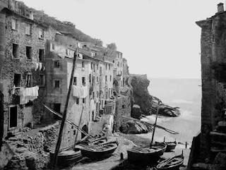 Riomaggiore in Cinque Terre 1890 August Alfred Noack