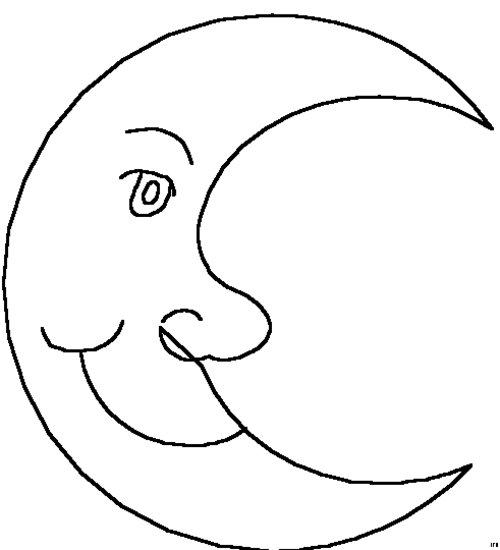 half moon coloring pages free coloring pages moon coloring pages for kids