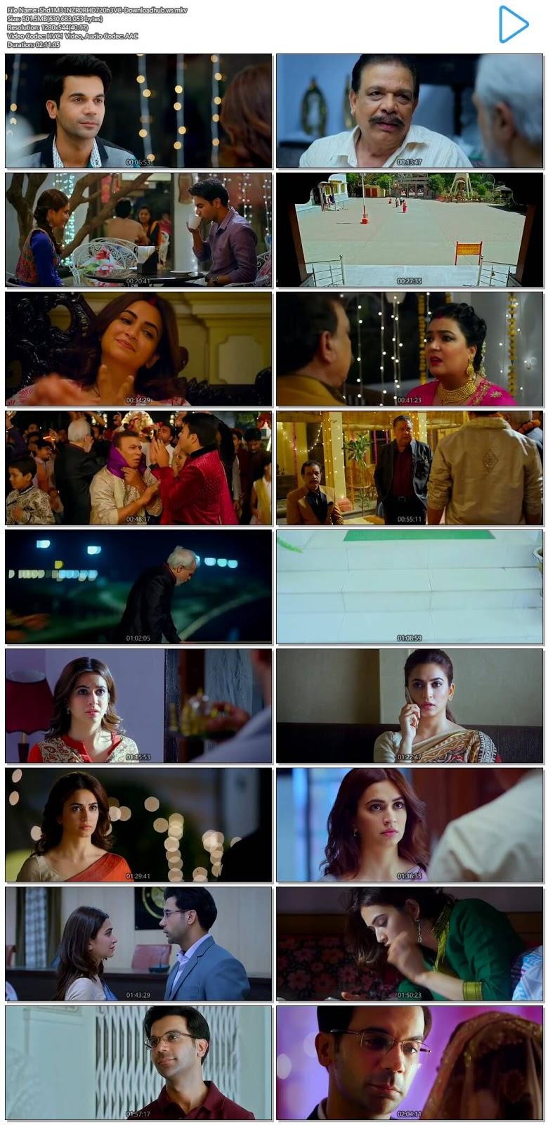 Shaadi Mein Zaroor Aana 2017 Hindi 720p HEVC HDRip
