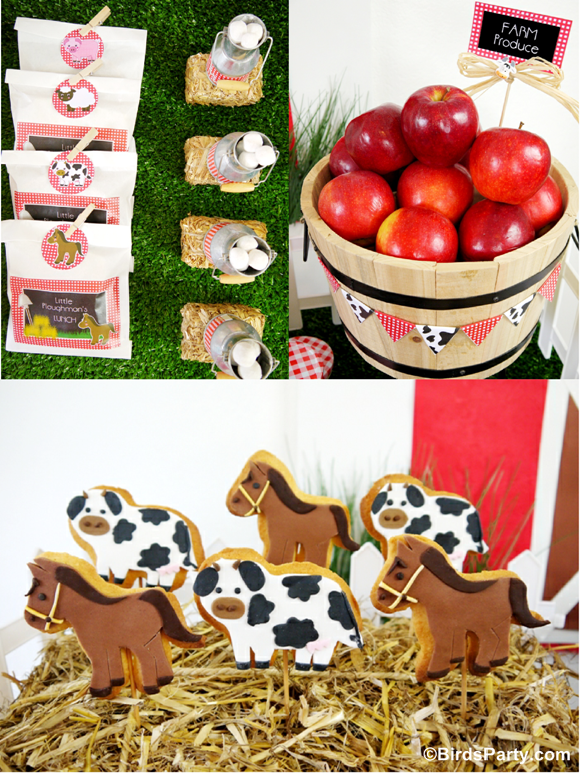 Farm and Barnyard Birthday Party Desserts, Cookies and Treats - BirdsParty.com