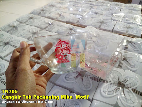 Cangkir Teh Packaging Mika Motif