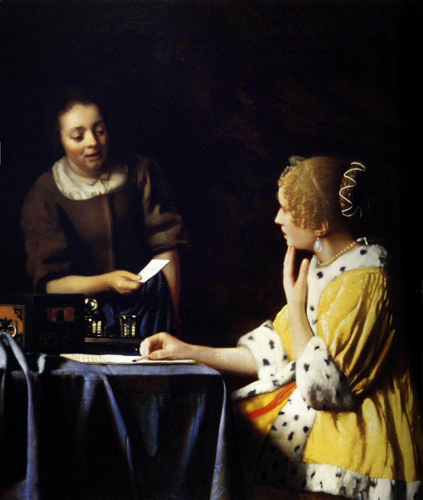 Senhora e Empregada Domestica - Vermeer, Jan e suas principais pinturas