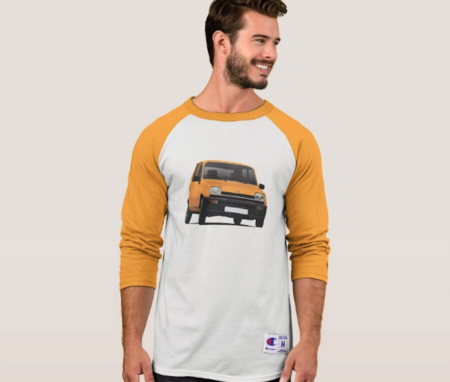 Renault 5 orange retro shirt