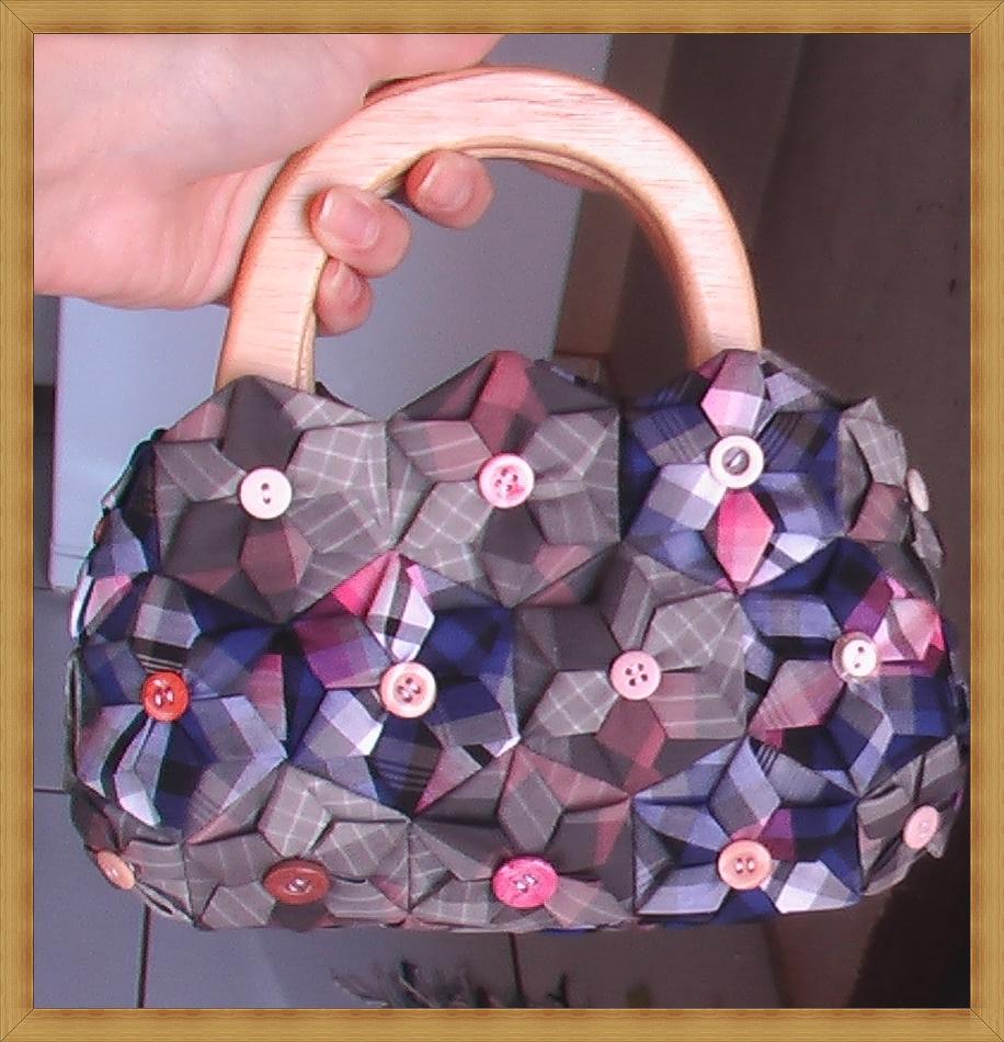 Bolsa De Fuxico Passo Apasso : Talento ao alcance das m?os bolsa flor de fuxico hexagonal