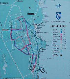 Walking routes around Keflavik
