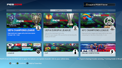 PES 2017 PES 2018 Graphic Theme ( PES League ) by Aldinov