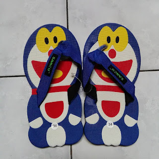 Sandal Sancu Doraemon, sandal lucu sancu, jual sandal sancu