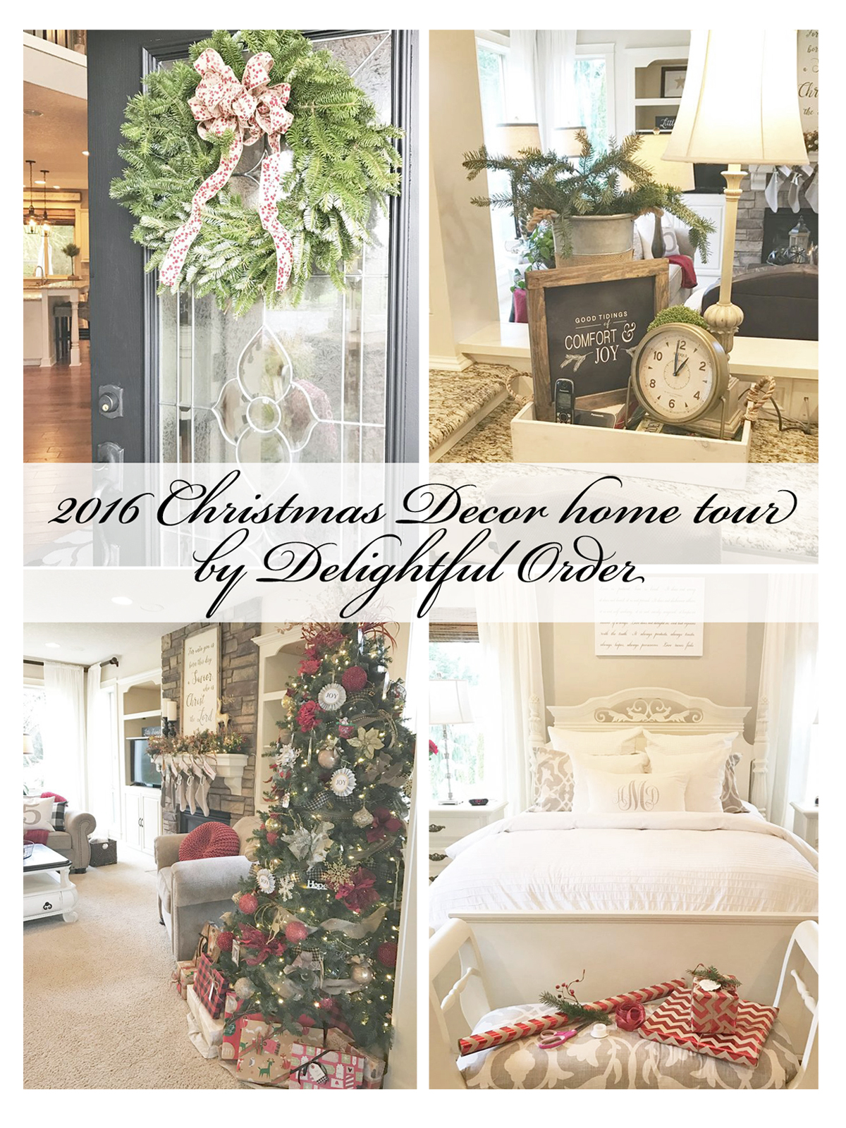 delightful order my 2016 christmas decor home tour merry christmas from our home to yours