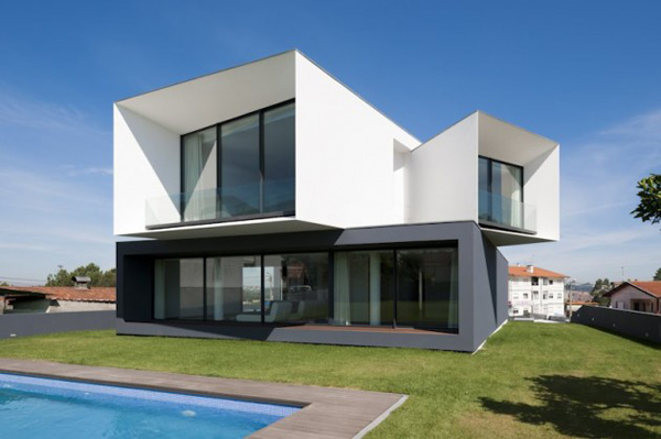 rumah modern dan futuristik multi level