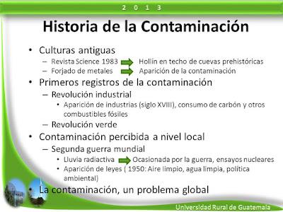 Historia de la Contaminación Ambiental