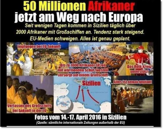 """Neue """"Flüchtlings""""-Welle: 15 Mio. Afrikaner kommen nach Europa: Abschieben, nicht alimentieren!"""