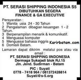 Lowongan Kerja PT. Serasi Shipping Indonesia