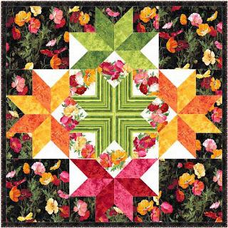 Starlight Poppies Quilt Pattern