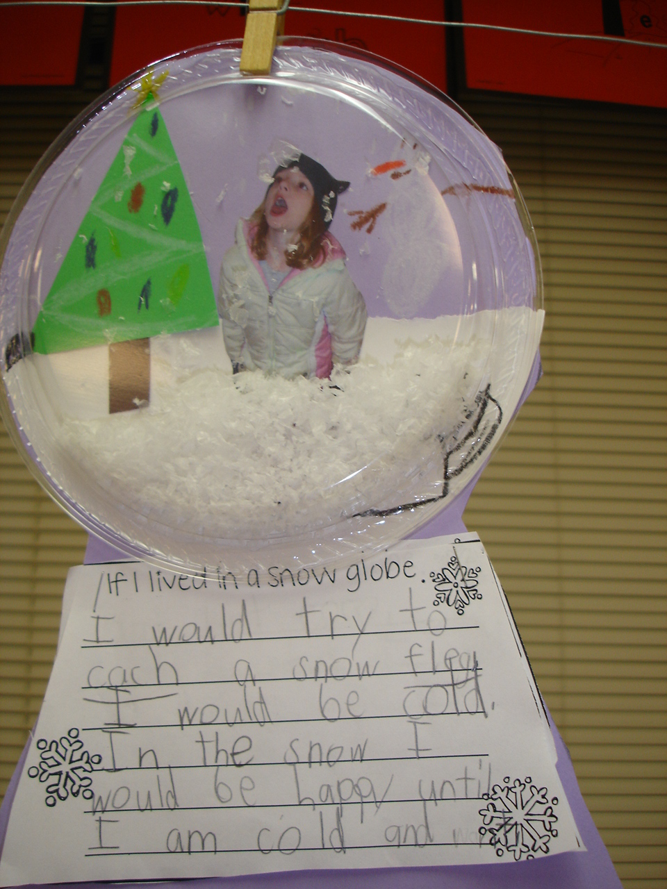 If i lived in a snowglobe writing activity for kindergarten