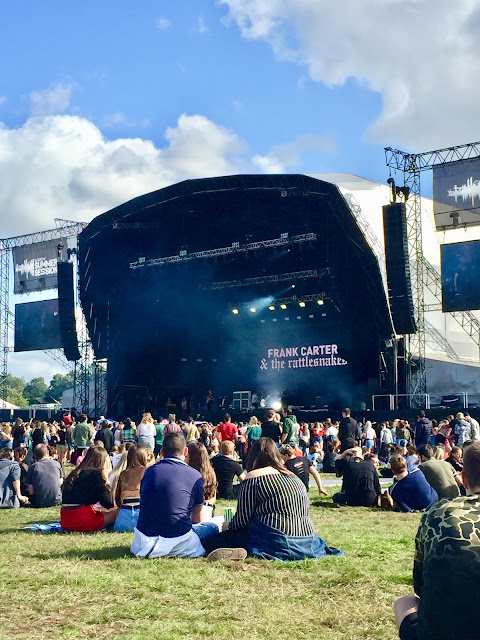 Frank Carter & the Rattlesnakes performing at the 2018 Glasgow Summer Sessions concert