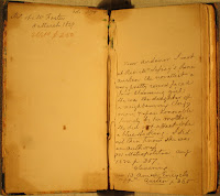 Inside front flyleaf of Jeremiah Smith's copy of Emma, with a note about meeting her in person