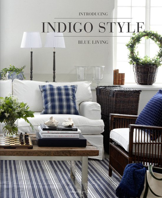 Indigo blue living for Blue themed living room ideas