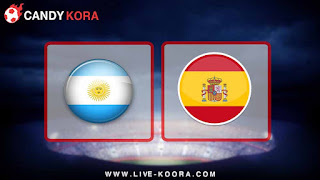 موعد مباراة الارجنتين وأسبانيا  27-3-2018 مباراة ودية