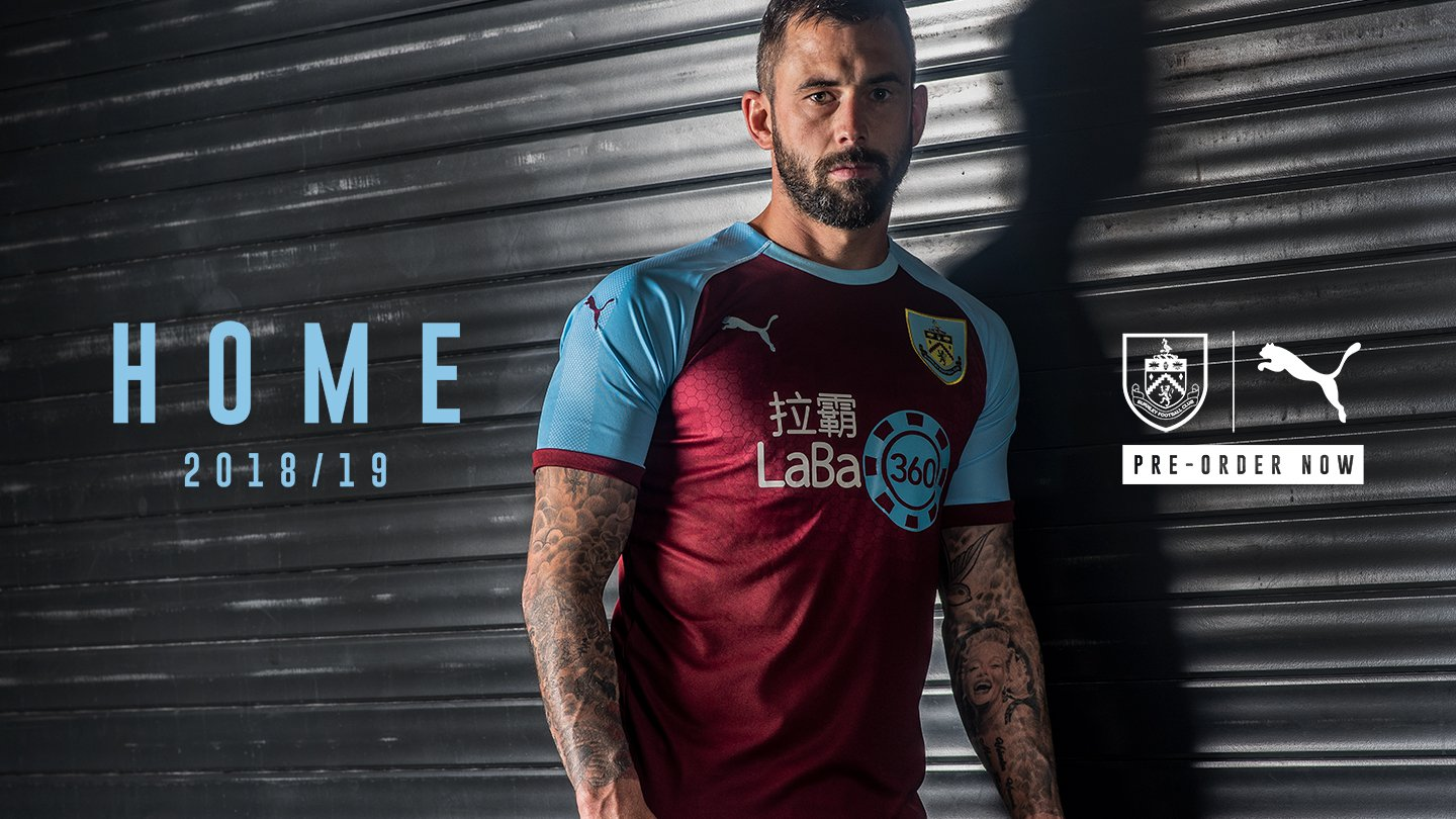 Burnley 18-19 Home Kit Revealed - Footy Headlines
