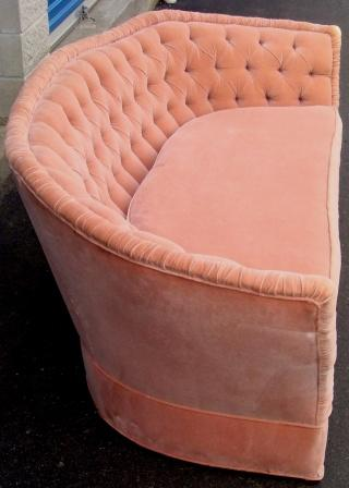 Nicole Wood Interiors Sold Vintage Tufted Curved Back