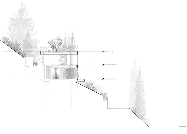 Side drawing of the modern home
