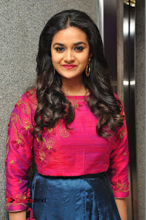 Actress Keerthi Suresh Stills at Remo Success Meet  0019.JPG