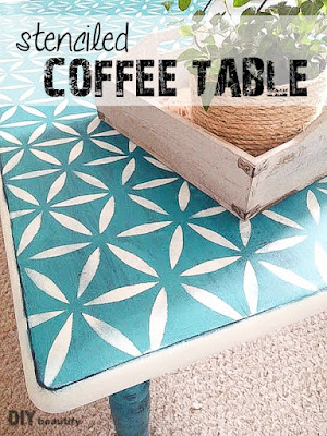 Stenciled Coffee Table | DIY beautify