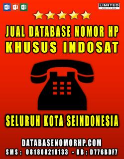 Jual Database Nomor HP Khusus Operator Indosat