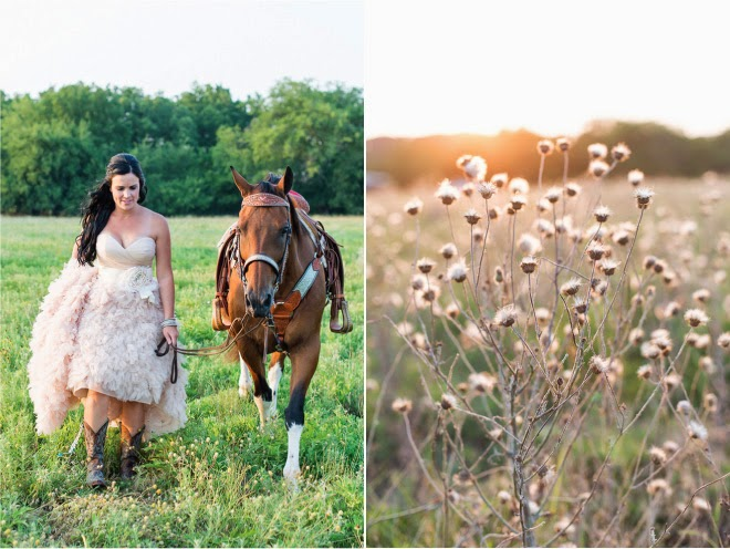 lovely Cowgirl Wedding Ideas Part - 13: Western Chic Wedding : Pink Ruffles and Cowboy Boots