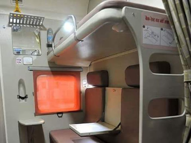 Indian Railway Coach Charging Points