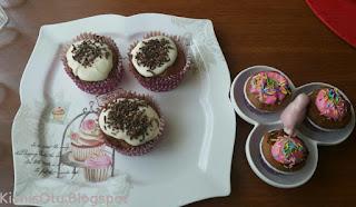 Nefis, kek, cupcake, Glütensiz, glutensiz, kişniş, çay, kolay,