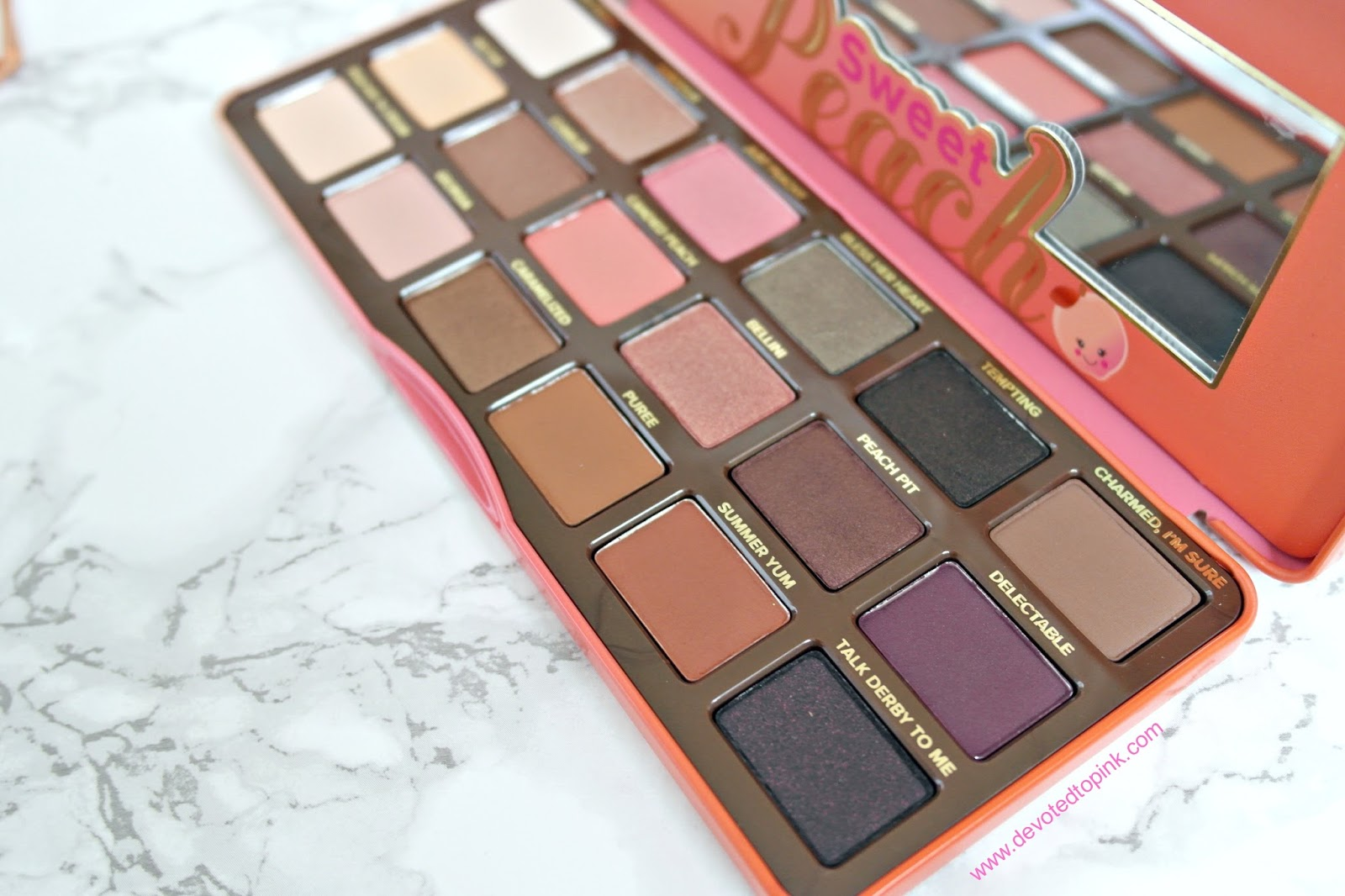 Too Faced, Sweet Peach Palette, Review, Swatches, shades