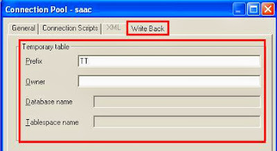 OBIEE connection pool write back option