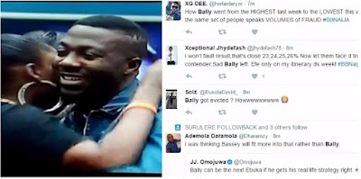 #BBNaija: Nigerians React to Bally's Eviction, claim votes were rigged to Favour TBoss