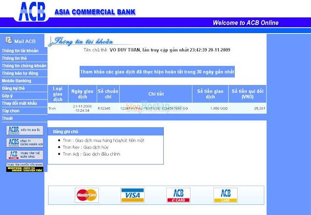 Verify tài khoản Paypal bằng thẻ VISA bước 3