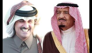 هل رضخ أمير قطر تميم بن حمد أمام ملك السعودية  ؟!