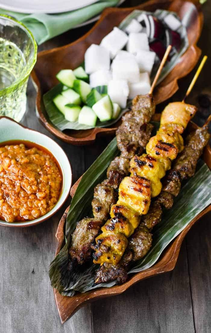 Chicken Satay and Beef Satay