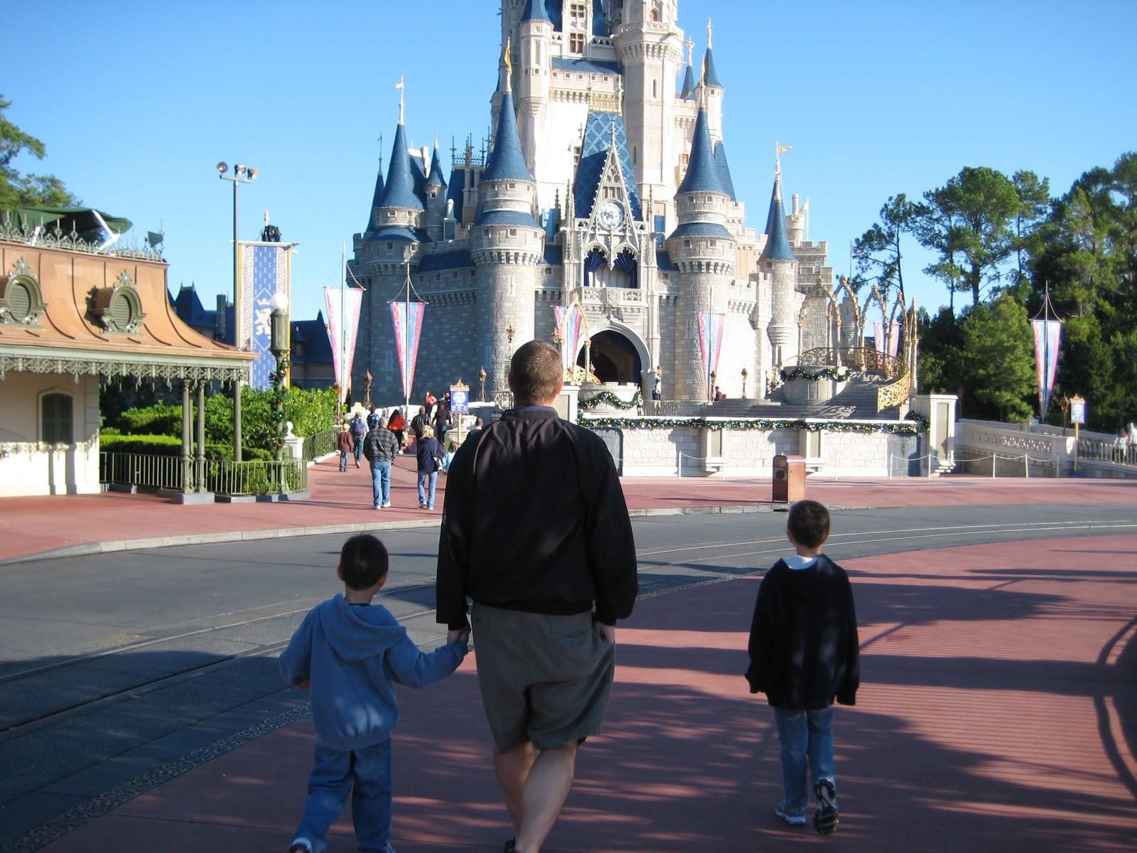 Boys in Disneyworld