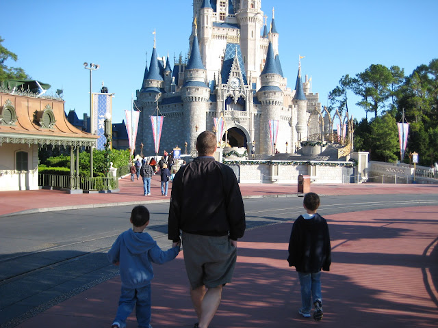 Boys in Disneyworld