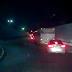 lateral do viaduto da Urbana sentido Mário Negócio congestionado