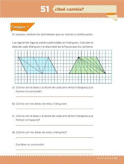 Apoyo Primaria Desafíos Matemáticos 5to Grado Bloque III Lección 51 ¿Qué cambia?