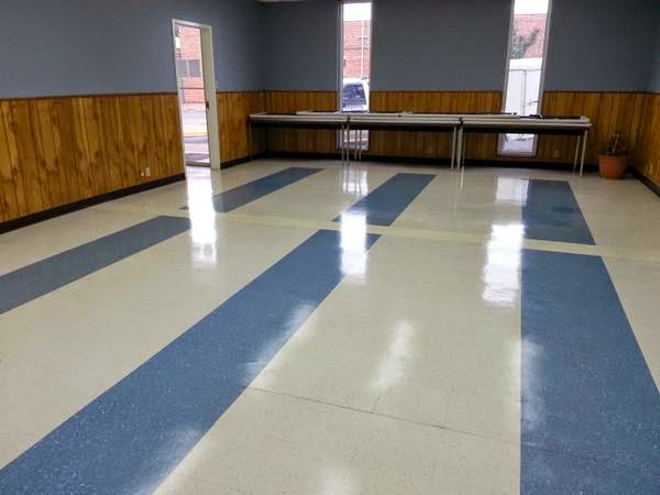 A meeting room vct strip and wax job