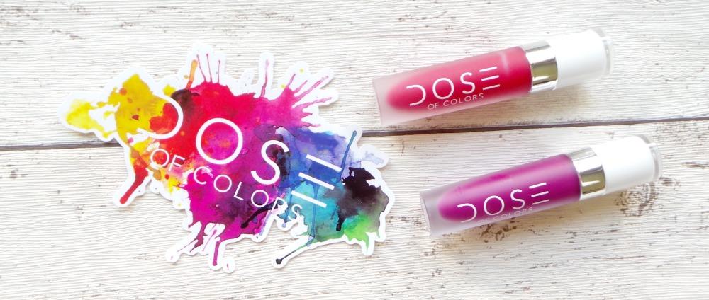Dose of Colours matte liquid lipsticks