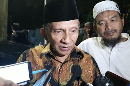 Amien Rais Nilai Ma'ruf Amin Menonjol di Debat Perdana: Menonjol Hampir tak Ada Perannya