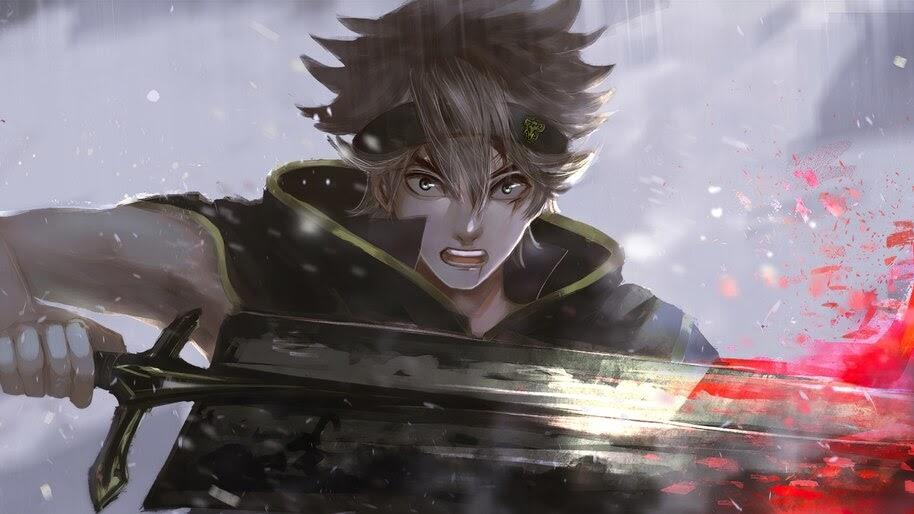 Asta, Sword, Black Clover, Anime, 4K, #6.825