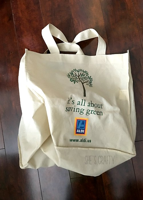 take your own shopping bags to Aldi