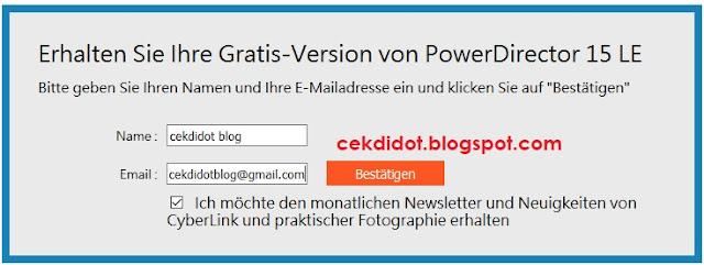 Giveaway CyberLink PowerDirector 15 LE Gratis Serial, aktivasi kode